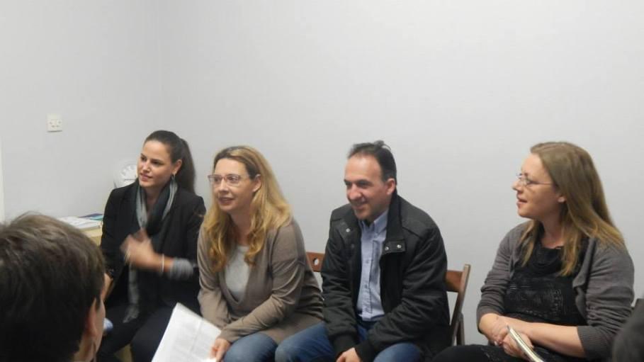 Από αριστερά, Σοφία Γριβάκη, Όλγα Γεωργαντέα, Χρήστος Τσαντής, Ελπίδα Κομιανού.