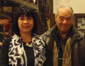 """Λευτέρης Μποτωνάκης και Αθηνά Γαλανάκη, φώτο από την παρουσίαση της νουβέλας """"Ο μικρός πρίγκιπας συναντά τον Κύριο Καζαντζάκη στο δρόμο της αναζήτησης"""""""