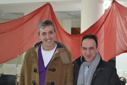 """Αριστόκριτος Τομαζινάκης και Χρήστος Τσαντής από την εφημερίδα """"Χανιώτικα Νέα"""""""