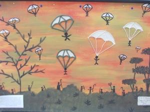 μαθητές ζωγραφίζουν για τη μάχη της Κρήτης