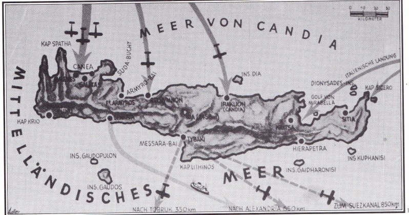 Χάρτης της Μάχης της Κρήτης