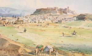Η Αθήνα στα 1836, όπως απεικονίζεται σε έργο του L. Lange