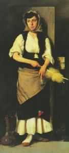 Κόρη με ρόκα και αδράχτι Γιώργος Ιακωβίδης