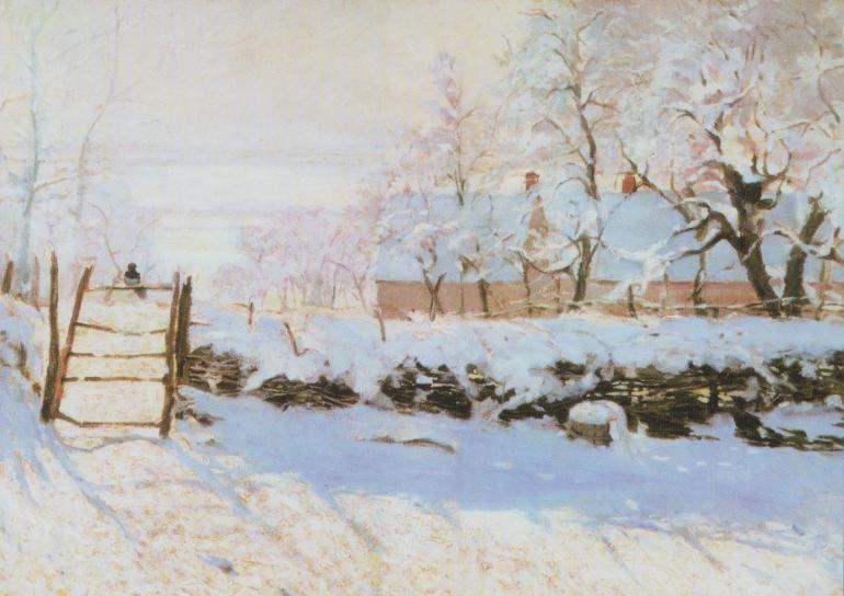 Κίσσα στο χιόνι, Κλώντ Μονέ 1840-1926