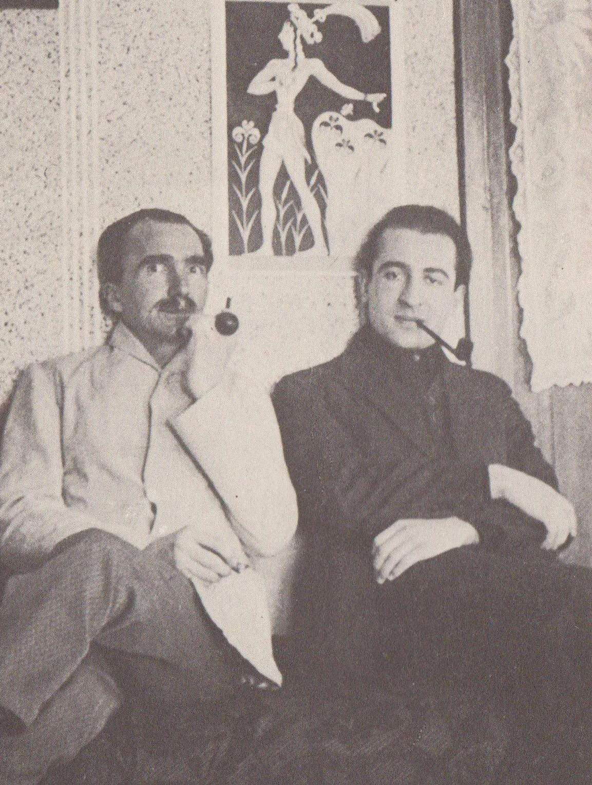 Νίκος Καζαζντάκης και Παντελής Πρεβελάκης 1932 Φωτογραφία Ε.Κ.