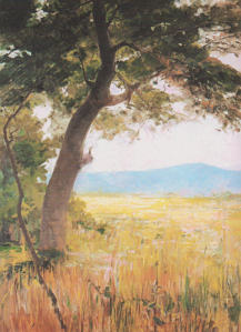 Υμηττός, πίνακας του Οδυσσέα Φωκά 1865-1946