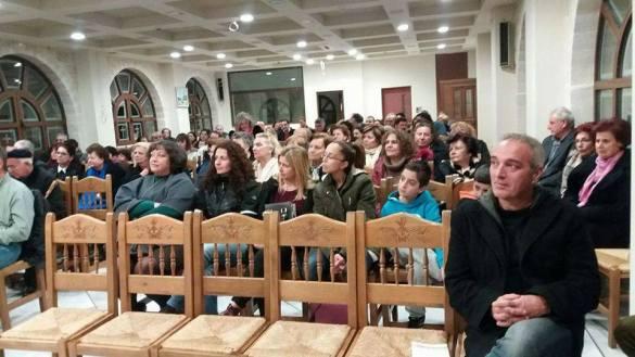 Από την παρουσίαση της ποιητικής συλλογής του Γιώργου Κουτουλάκη στο Χαζίρειο Πνευματικό Κέντρο της Αγίας Μαρίνας