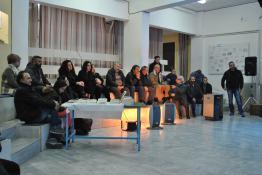 Τμήμα από το αμφιθέατρο του Γυμνάσιου στο Βενεράτο, πριν από την έναρξη της εκδήλωσης