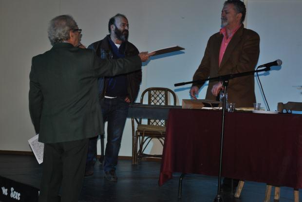 Τα δυο πουγκιά στο Βενεράτο. Γιώργος Ηλιάδης, Μαρίνος Σμπώκος, Βαγγέλης Μαραγκάκης.