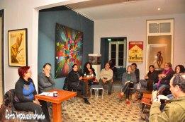 Η Βίκυ Παπαναγιώτου μιλά για το βιβλίο. Φωτογραφία: Foto Mpouzis Chania