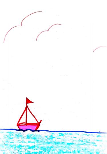 """Λεπτομέρεια από το παραμύθι της Ελευθερίας Τσικαλά, """"Ο ήρωας της θάλασσας"""", σκίτσο Ελπίδα Τσικαλά"""