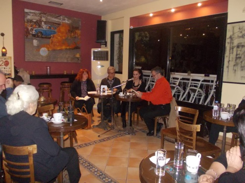 Από αριστερά προς τα δεξιά: Ελπίδα Γρηγοράκη, Μανόλης Σγουρός, Μαριάνθη Μενεγάκη και Γιώργος Ηλιάδης