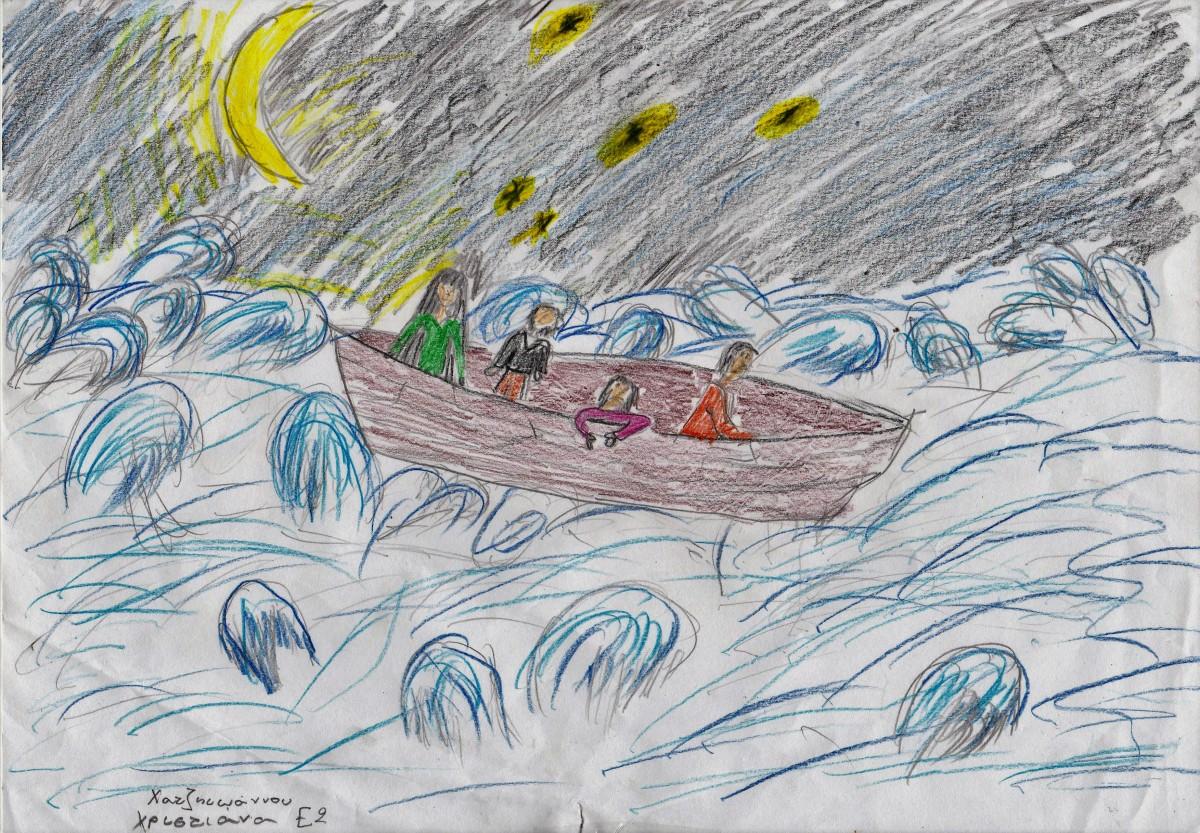Γράμματα στον Φαζίλ από τους μαθητές του Ε2 του 11ου Δημοτικού Σχολείου Χανίων