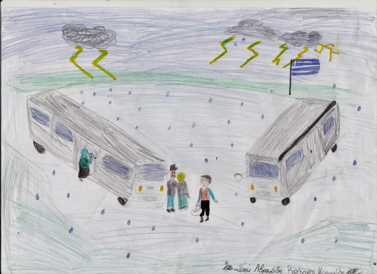 Γράμματα και ζωγραφιές στον Φαζίλ από τους μαθητές της ΣΤ τάξης του 11ου Δημοτικού Σχολείου Χανίων
