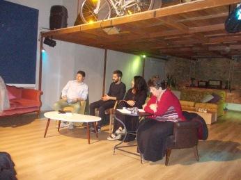 Από αριστερά προς τα δεξιά: Μανόλης Χατζηπαναγιώτου, Άγγελος Ποθουλάκης, Αθανασία Κοκκινάκη, Αγγελική Μπεμπλιδάκη