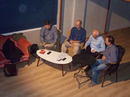 Από αριστερά: Μανόλης Χατζηπαναγιώτου, Κωνσταντίνος Φίσερ, Σήφης Μιχελογιάννης και Χρήστος Τσαντής